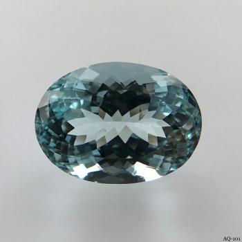 Aquamarin Oval 9,94 kt. 16,3x12,0 mm (AQ-101)