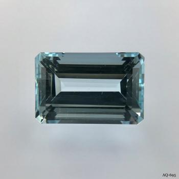 Aquamarin Oktagon 12,82 kt. 17,2x11,4 mm (AQ-695)