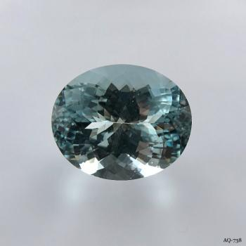Aquamarin Oval 11,65 kt. 16,5x13,7 mm (AQ-738)