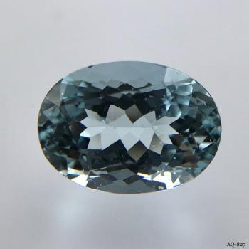 Aquamarin Oval 6,27 kt. 14,0x10,2 mm (AQ-827)
