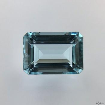 Aquamarin Oktagon 8,11 kt. 14,9x10,5 mm (AQ-871)