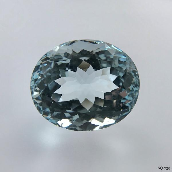 Aquamarin Oval 14,88 kt. 16,8x14,2 mm (AQ-739)